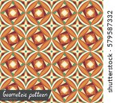 pattern of geometric shapes.... | Shutterstock .eps vector #579587332