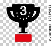 third prize cup icon. vector... | Shutterstock .eps vector #579590986