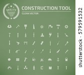 construction tool icon set... | Shutterstock .eps vector #579591532