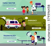 sick people horizontal banners... | Shutterstock .eps vector #579596458