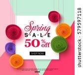 spring sale banner template... | Shutterstock .eps vector #579597118