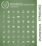 business and office icon set... | Shutterstock .eps vector #579601402
