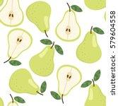 sweet pear seamless pattern....   Shutterstock .eps vector #579604558