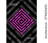 black design cover brochure.... | Shutterstock .eps vector #579605692