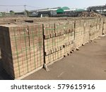 storage of brick concrete | Shutterstock . vector #579615916