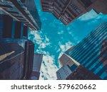 skyscraper buildings and sky... | Shutterstock . vector #579620662