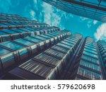 skyscraper buildings and sky... | Shutterstock . vector #579620698