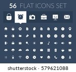 flat icons set for web and...
