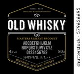 typeface. label. old whisky... | Shutterstock .eps vector #579626695