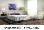bedroom interior. 3d... | Shutterstock . vector #579627382