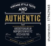 typeface. label. authentic... | Shutterstock .eps vector #579629668
