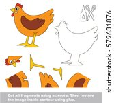 use scissors and glue and...   Shutterstock .eps vector #579631876