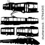 urban transportation | Shutterstock .eps vector #57964345