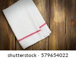 linen kitchen towel on white... | Shutterstock . vector #579654022