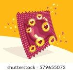 festive condom package similar...   Shutterstock .eps vector #579655072