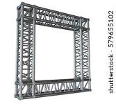 steel truss girder rooftop... | Shutterstock . vector #579655102