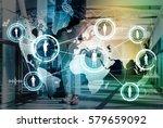 international exchange concept | Shutterstock . vector #579659092