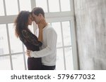 beautiful young couple having a ... | Shutterstock . vector #579677032