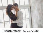 beautiful young couple having a ... | Shutterstock . vector #579677032