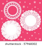 Set For Round Lace Doily....
