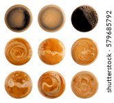 coffee foam isolated on white... | Shutterstock . vector #579685792