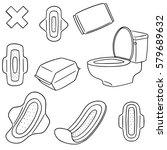 vector set of sanitary napkin | Shutterstock .eps vector #579689632