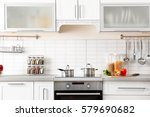 new modern kitchen interior | Shutterstock . vector #579690682