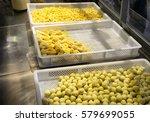home made fresh italian pasta   Shutterstock . vector #579699055
