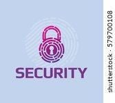 vector icon cyber security logo ... | Shutterstock .eps vector #579700108
