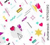 trendy geometric elements...   Shutterstock .eps vector #579702592