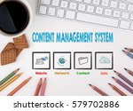 content management system... | Shutterstock . vector #579702886