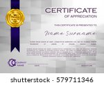 qualification certificate of... | Shutterstock .eps vector #579711346
