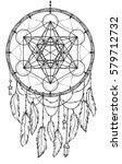 native american indian talisman ... | Shutterstock .eps vector #579712732
