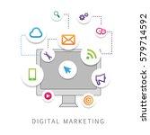 digital marketing isolated on...   Shutterstock .eps vector #579714592