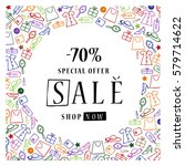 sale banner design template on... | Shutterstock .eps vector #579714622