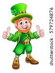 a cartoon leprechaun st...