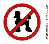 sign of dog prohibition... | Shutterstock .eps vector #579730135