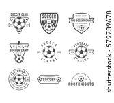 set of vintage soccer or... | Shutterstock . vector #579739678