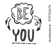 vector calligraphy.be you hand...   Shutterstock .eps vector #579741676