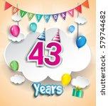 43 years birthday design for... | Shutterstock .eps vector #579744682