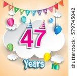 47 years birthday design for