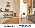 spacious apartment with earty... | Shutterstock . vector #579748822