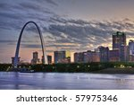 Cityscape Of St. Louis Missour...