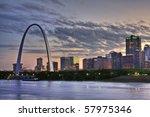 Cityscape Of St. Louis Missour...