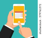 calendar  schedule  reminder ... | Shutterstock .eps vector #579761572