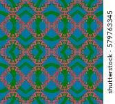 abstract geometric seamless... | Shutterstock . vector #579763345