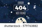 vector flat cosmos design... | Shutterstock .eps vector #579763882