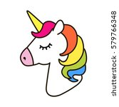 unicorn vector icon isolated on ... | Shutterstock .eps vector #579766348