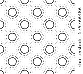 dot pattern seamless abstract... | Shutterstock .eps vector #579766486
