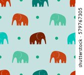seamless pattern with stylized... | Shutterstock .eps vector #579767305